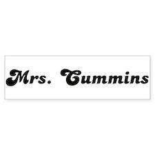 Mrs. Cummins Bumper Bumper Sticker