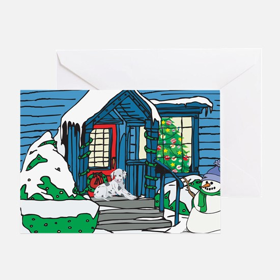 Welcome Dalmatian Christmas Greeting Card