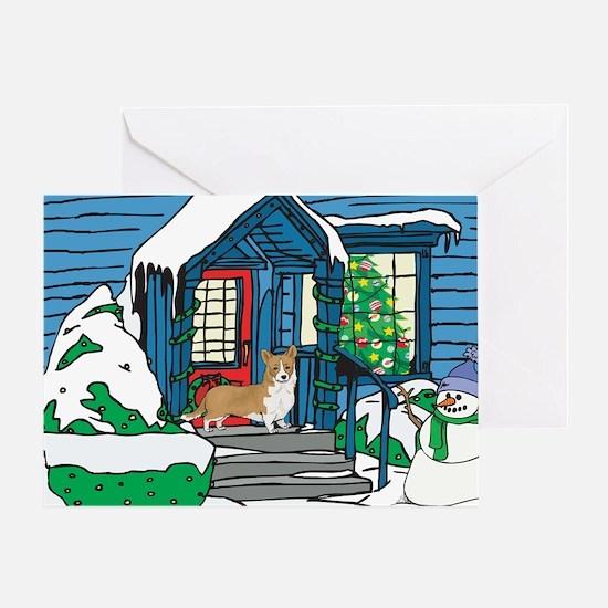 Welcome Corgi Christmas Greeting Card