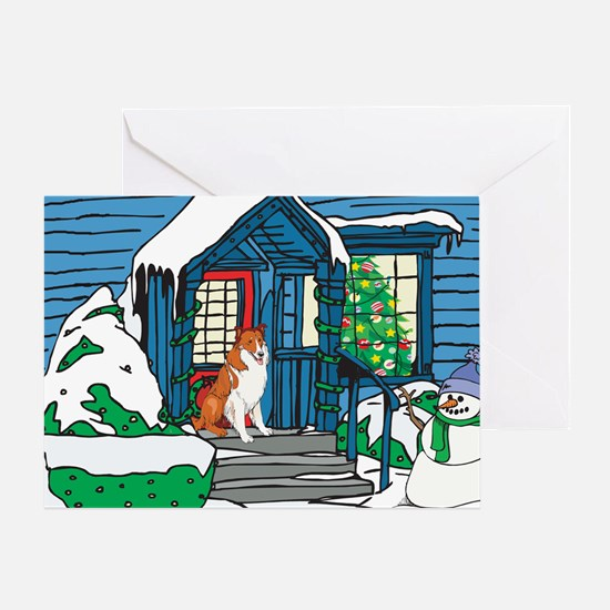 Welcome Collie Christmas Greeting Card