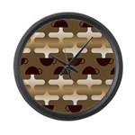 Contemporary Coffee Large Wall Clock