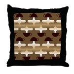 Contemporary Coffee Throw Pillow