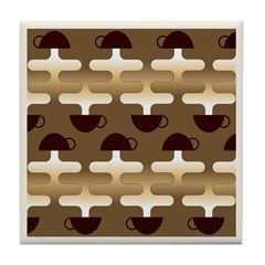 Contemporary Coffee Tile Drink Coaster