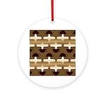 Contemporary Coffee Ornament (Round)