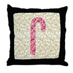 Candy Cane Polka Throw Pillow