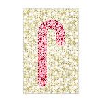 Candy Cane Polka Mini Poster Print