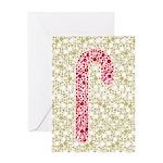 Candy Cane Polka Greeting Card