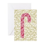 Candy Cane Polka Greeting Cards (Pk of 10)