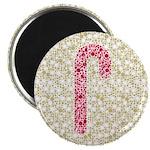 "Candy Cane Polka 2.25"" Magnet (10 pack)"