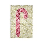 Candy Cane Polka Rectangle Magnet