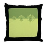 Modern Green Snowflakes Throw Pillow