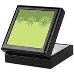 Modern Green Snowflakes Keepsake Box