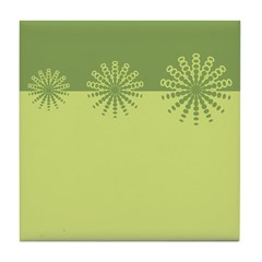Modern Green Snowflakes Tile Drink Coaster
