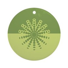 Modern Green Snowflakes Ornament (Round)