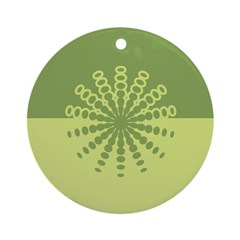 Modern Green Snowflakes Ornament (Round)