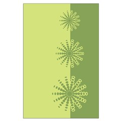 Modern Green Snowflakes Posters