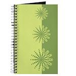 Modern Green Snowflakes Journal