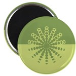 """Modern Green Snowflakes 2.25"""" Magnet (10 pack)"""
