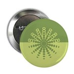 "Modern Green Snowflakes 2.25"" Button (10 pack)"