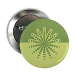 "Modern Green Snowflakes 2.25"" Button"