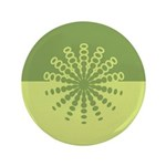 "Modern Green Snowflakes 3.5"" Button (100 pack)"