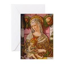 Crivelli Madonna Christmas Cards 10 w envelopes