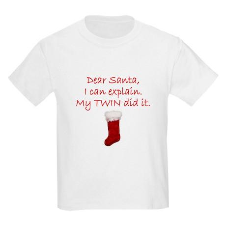 Dear Santa Kids Light T-Shirt