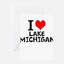 I Love Lake Michigan Greeting Cards