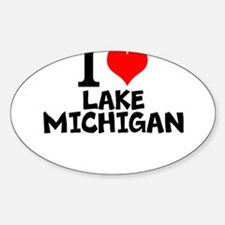 I Love Lake Michigan Decal