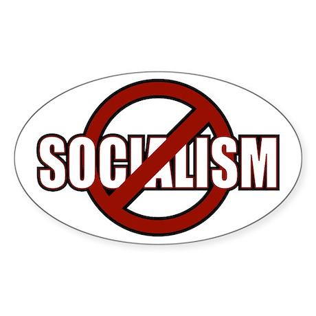 No Socialism Oval Sticker