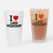 I Love Lake Michigan Drinking Glass