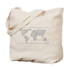 GEOGRAPHY/WORLD MAP Tote Bag