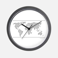 GEOGRAPHY/WORLD MAP Wall Clock