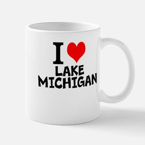 I Love Lake Michigan Mugs