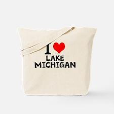 I Love Lake Michigan Tote Bag