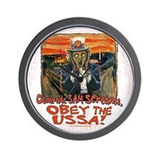 Obey the USSA 2 Wall Clock