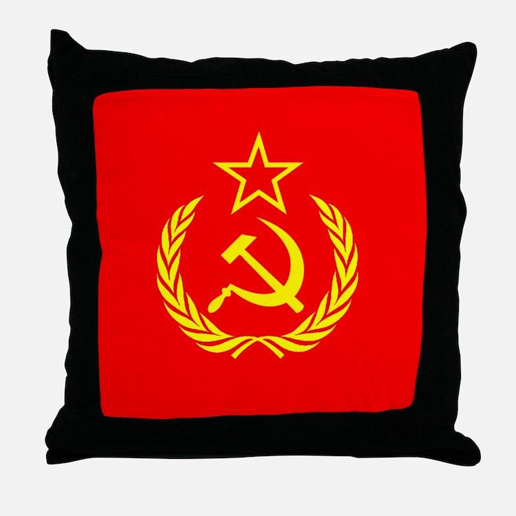 New USSR Flag Throw Pillow