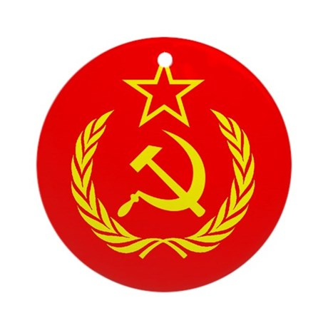New USSR Flag Ornament (Round)