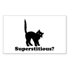 Superstitious Rectangle Decal