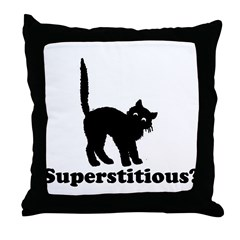Superstitious Throw Pillow