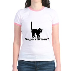 Superstitious Jr. Ringer T-Shirt