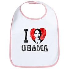 I Love Obama Bib