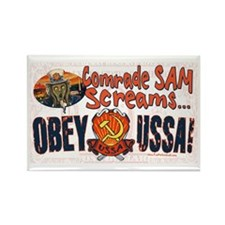 Obey the USSA Rectangle Magnet