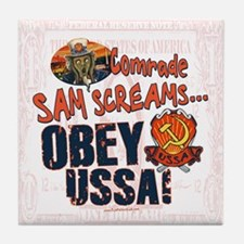Obey the USSA Tile Coaster