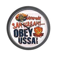 Obey the USSA Wall Clock