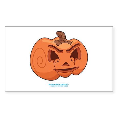 Halloween Jack O Lantern 3 No Rectangle Sticker