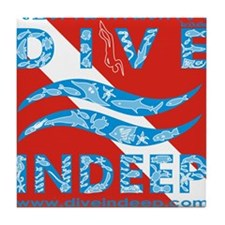 Dive Indeep Tile Coaster