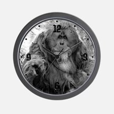 Pointing Orangutan Wall Clock