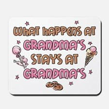 Treats Stays At Grandma's Mousepad
