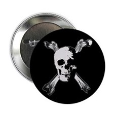"Gothic / horror pirate flag 2.25"" Button (10 pack)"